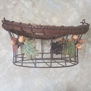Rustic Fall Decor wire basket